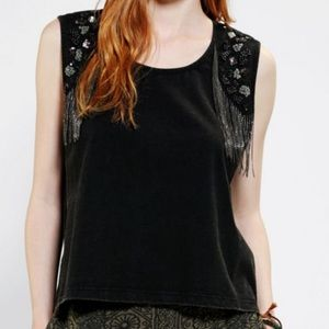 Urban Outfitters Fringe Muscle Tee